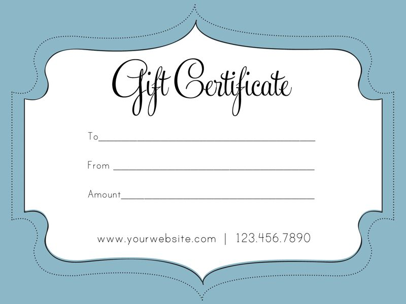 Free Business Gift Certificate Template  Gift Certificates
