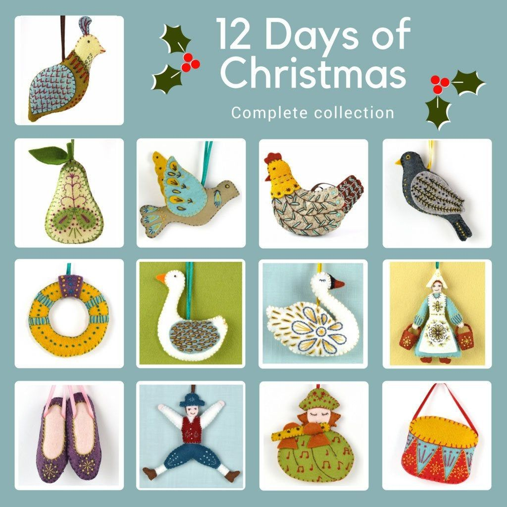 12 Days Of Christmas Felt Kit To Decorate Your Home For The Christmas Season Complete Set With 13 Figures Fro Felt Crafts Kits 12 Days Of Christmas Felt Crafts