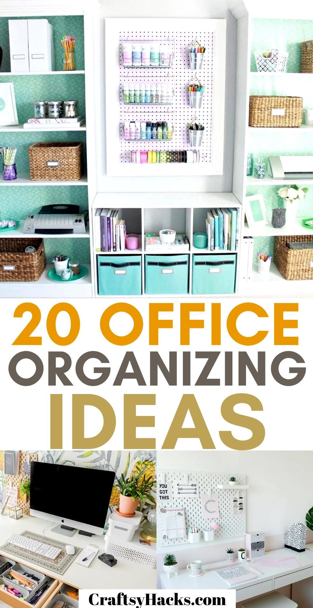 20 Office Organizing Ideas -   19 diy Organization desk ideas