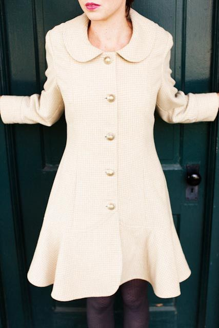 Abbey Coat sewing pattern by Jamie Christina (I'd do it with a flounced collar)