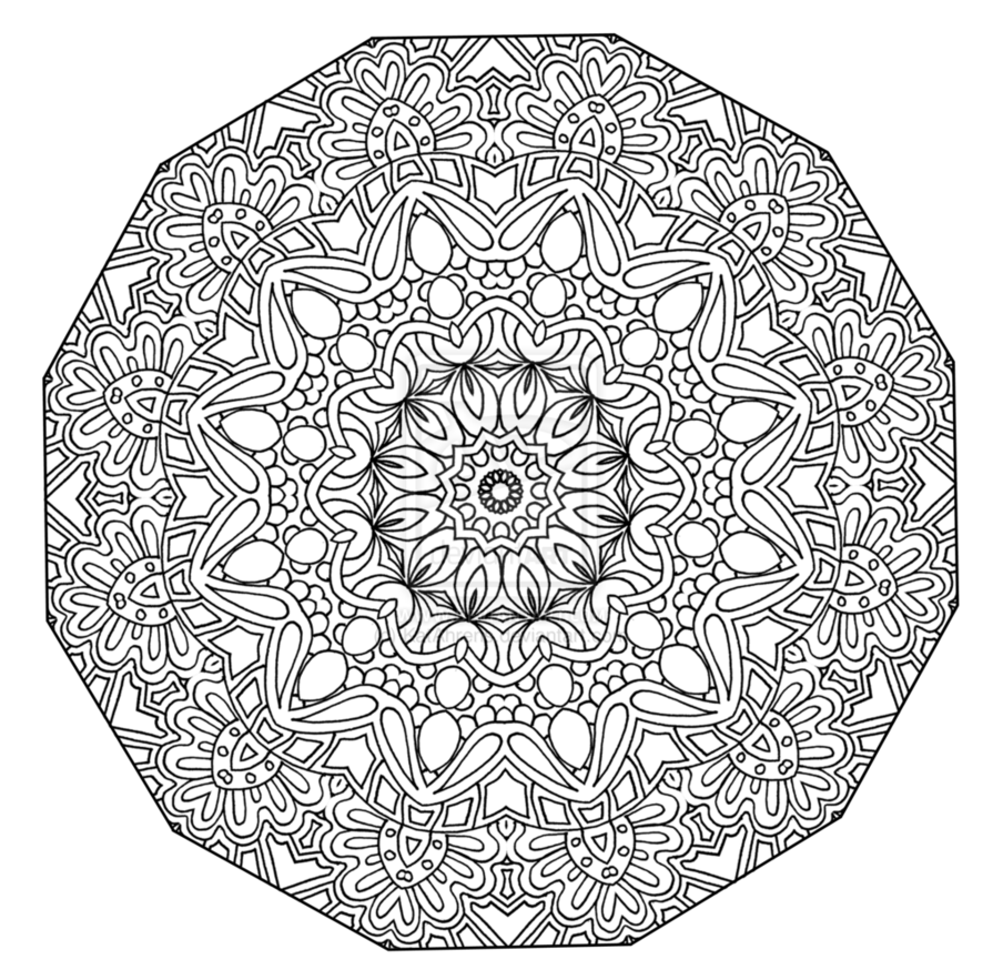 The mandala coloring book jim gogarty -  Mandala Para Colorear Dew Drops Hand Drawn Mandala By Kathyahrens On Deviantart Celtic Mandala Coloring Pages