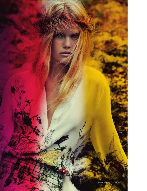 awesome ELLE UK | Editorial Novembro 2012 | Sophia Monrad por Enrique Badulescu