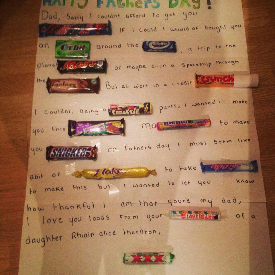 Chocolate letter! Dad birthday card