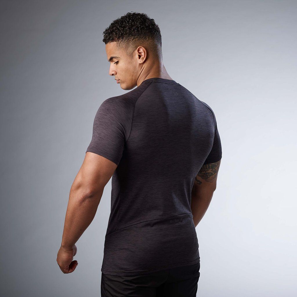 c08d3d1e Gymshark Apex T-Shirt - Black Marl | Men Workout Shirts | Mens ...