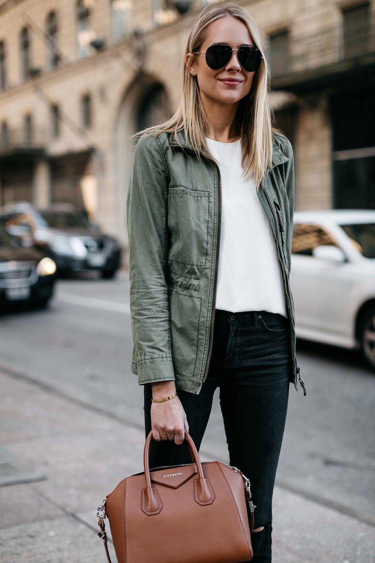 c5b6fd6ec7f0 ... Green Jacket White Tank Givenchy Antigona Small Satchel Cognac Celine  Aviator Sunglasses Fashion Jackson Dallas Blogger Fashion Blogger Street  Style
