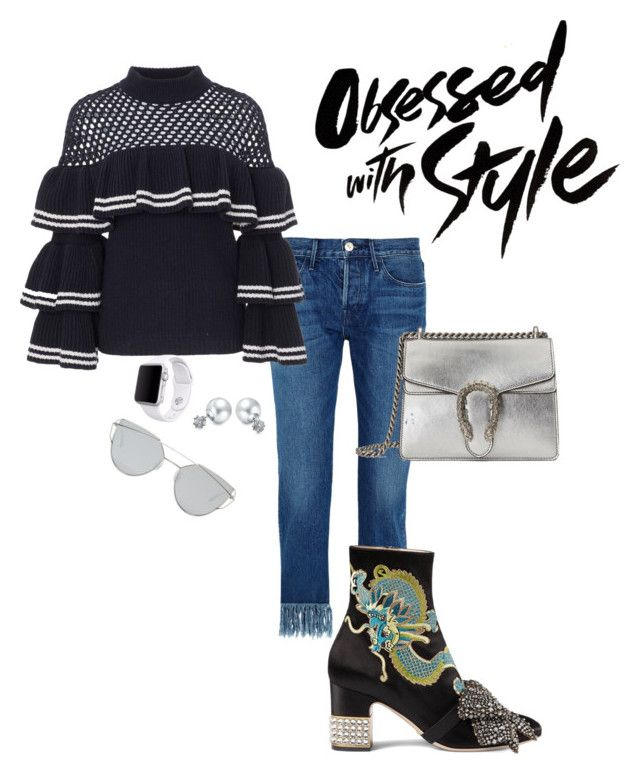 """""""Fallin into season 🍂🍁"""" by beverlyclm on Polyvore featuring 3x1, self-portrait, Gucci, Bling Jewelry, Apple and Gentle Monster"""