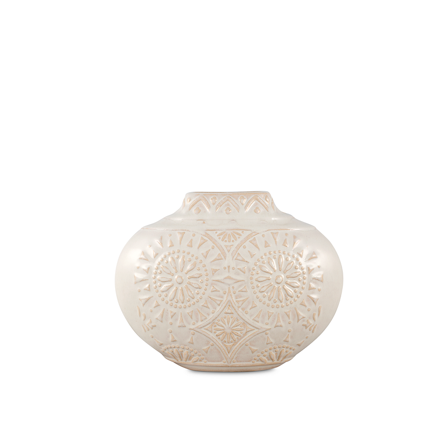 Segovia Vase Is Simply Styled With Soft Floral Medallion Accents Rowe Furniture Soft Floral Vase