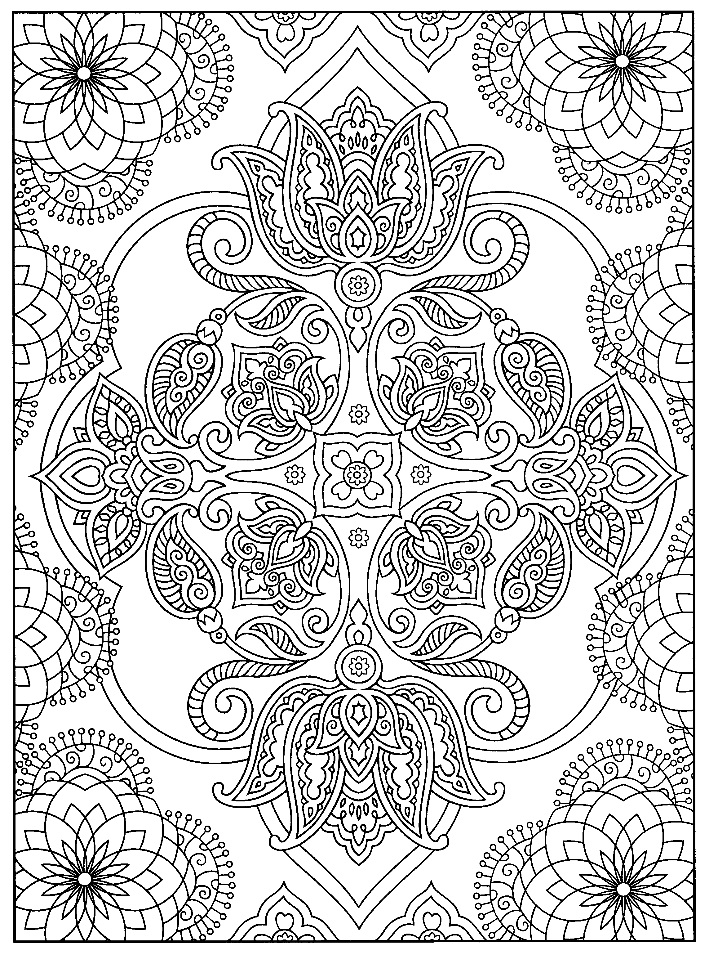 A Favorite From Mehndi Designs By Marty Noble Mandala Coloring Pages Coloring Pages Coloring Book Pages