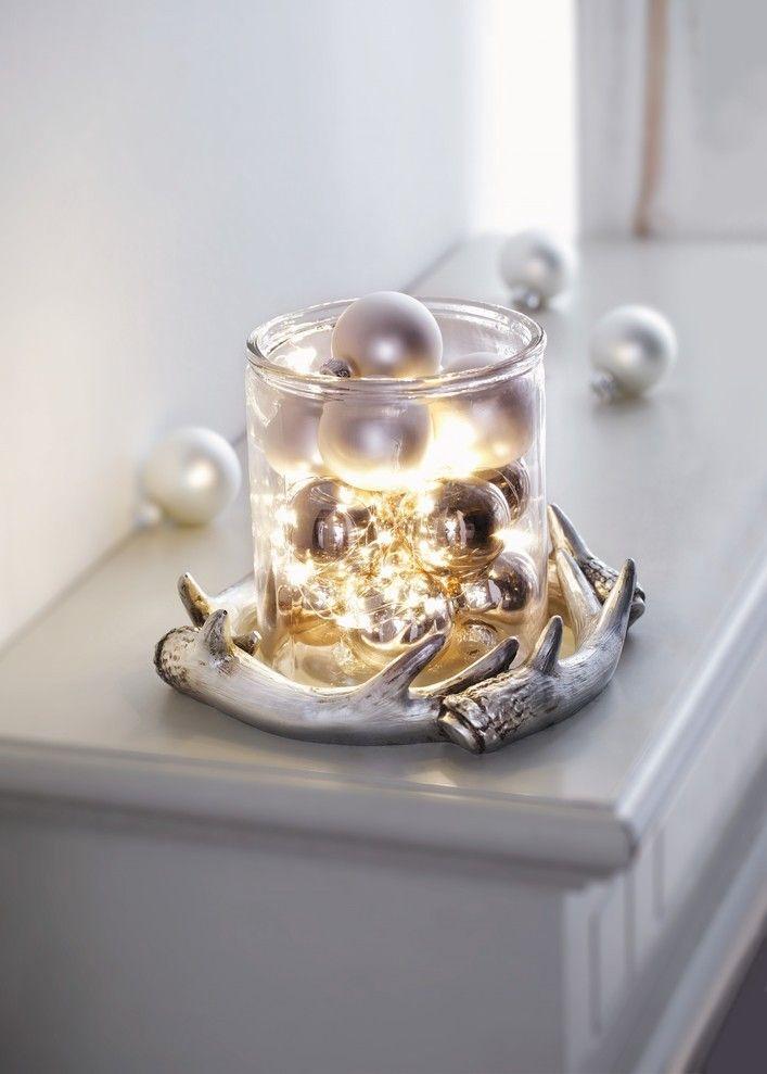 kranz silber geweih silberglanz weihnachten pinterest weihnachten kranz und deko. Black Bedroom Furniture Sets. Home Design Ideas