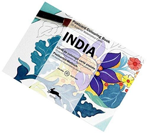 India : POSTCARD COLOURING BOOK By Pepin Van Roojen Http
