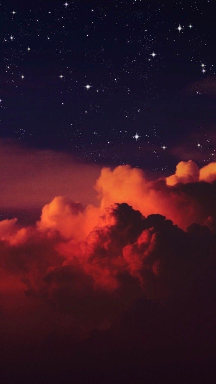 Aesthetic By Nadya Cesario Night Sky Wallpaper Iphone Wallpaper