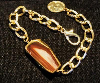 bombaybead | Products | bracelet | Agate Druzy Chunky Bracelet