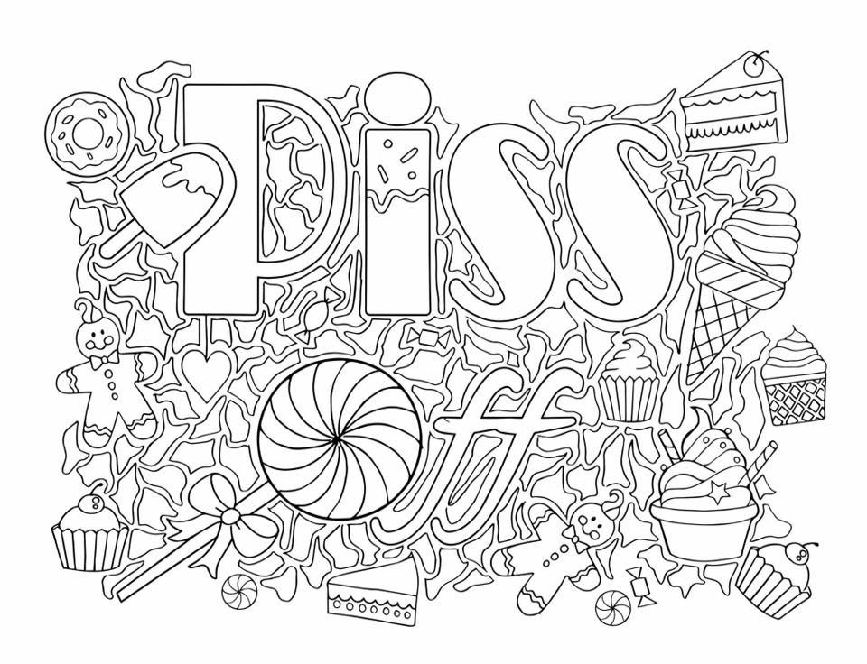 Pin by Valarie Ante on COLOR me sweary coloring pages