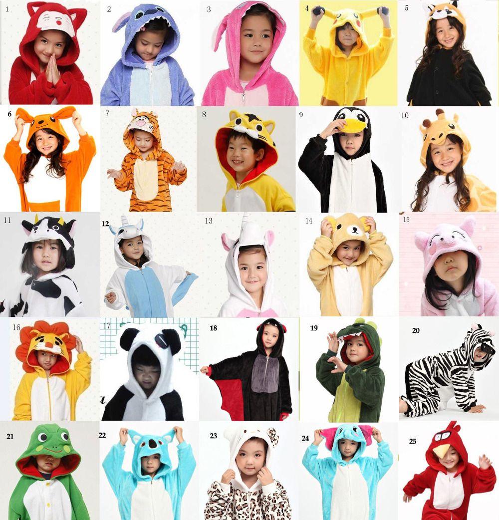 3659d3c58f2f1 Pas cher Enfants Enfant Unisexe Pyjamas Cosplay Costume Animal Onesie Nuit  Dinosaure Âne Hibou Vache Pikachu Grenouille Ours Requin, Acheter Habits de  ...