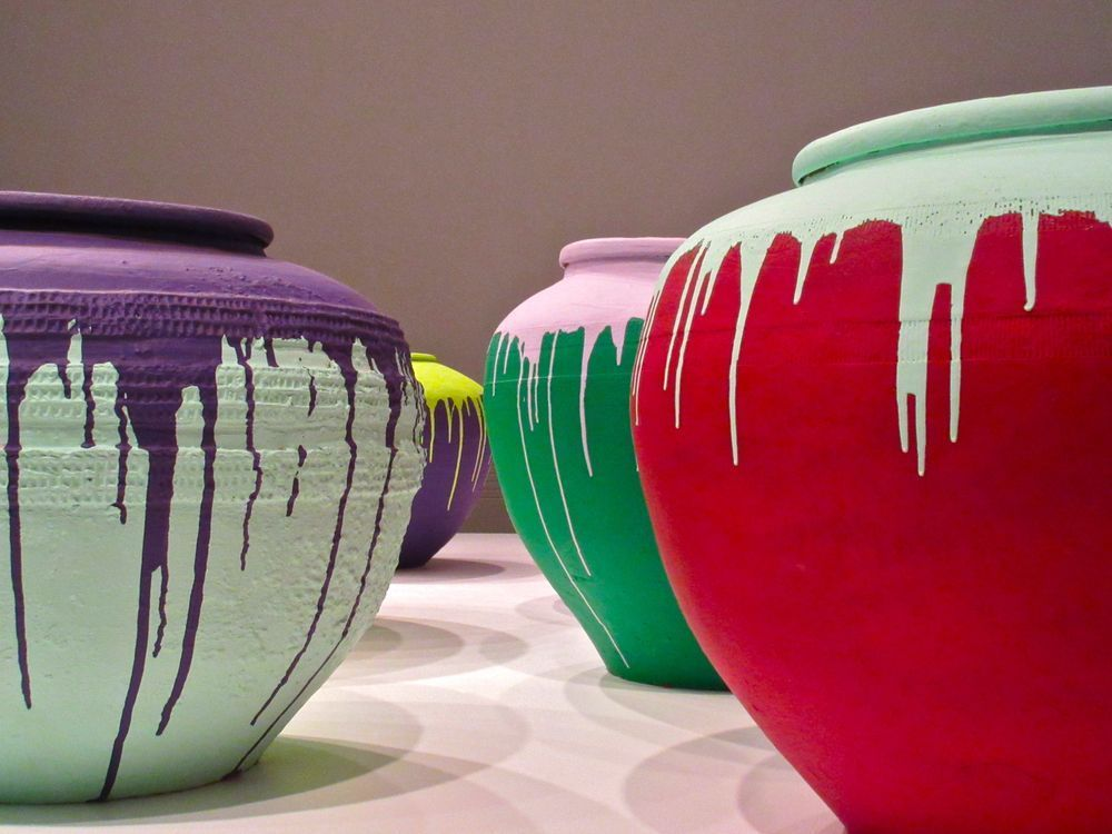 Ai Wei Wei's colored vases