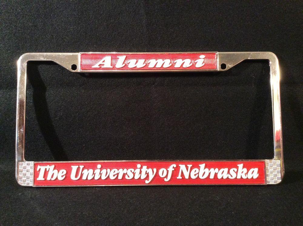 University Of Nebraska Huskers Alumni License Plate Frame Holder ...