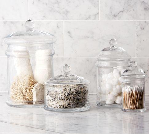 Pb Classic Glass Bath Canister Modern Bathroom Accessories