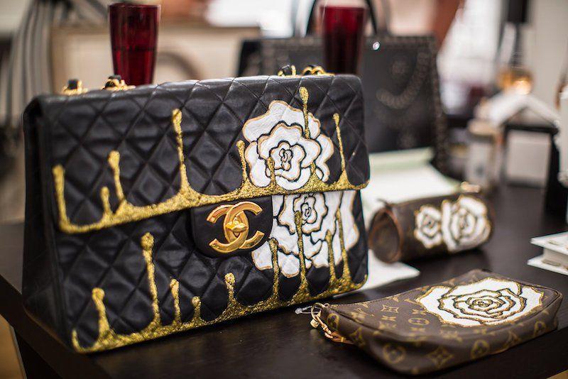 1671a7e1a39f30 Custom Painted Handbag Collaboration with The Vintage Contessa & Artist  Hanh Tran – The Vintage Contessa
