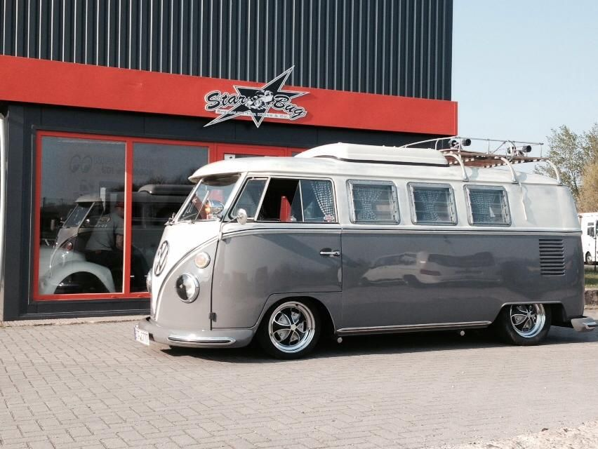 gray and white combo Vintage vw camper, Volkswagen bus