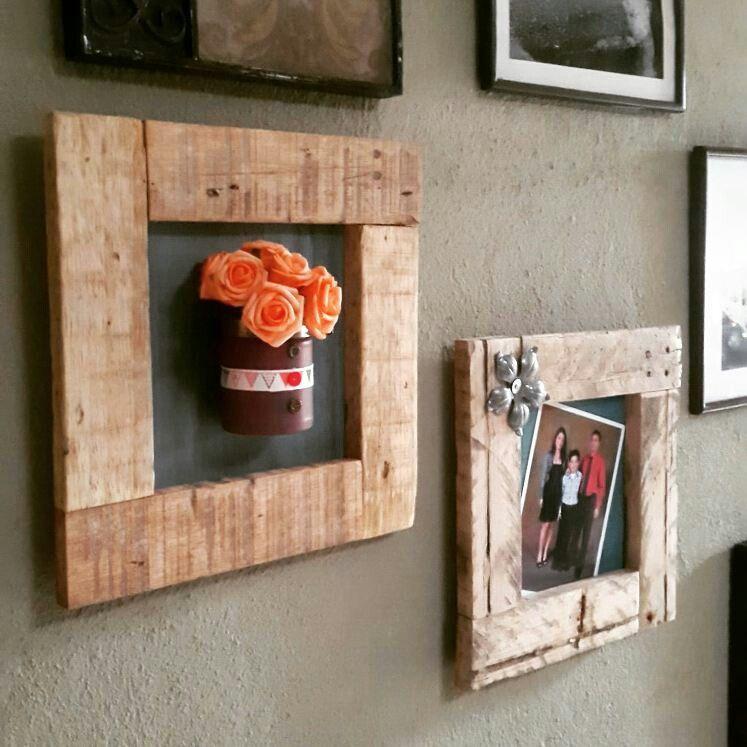 Marcos rústicos en madera $25 el par. | Madera | Pinterest | Marcos ...