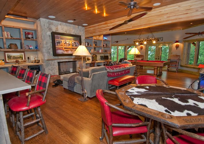 Love the plaid bar stools and the poker table basement pinterest love the plaid bar stools and the poker table watchthetrailerfo
