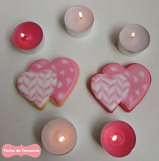 Galletas decoradas: corazones románticos