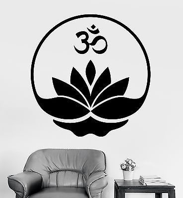 Sticker wall decal home decor vinyl art mandala buddha om ohm buddhism