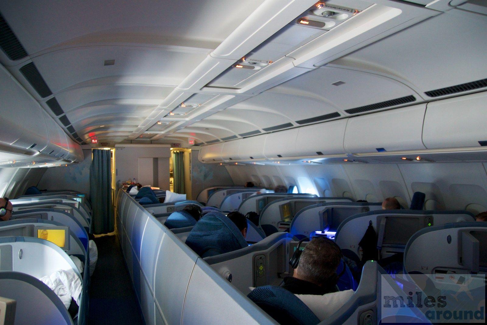 Air canada airbus a330 300 business class cabin interior