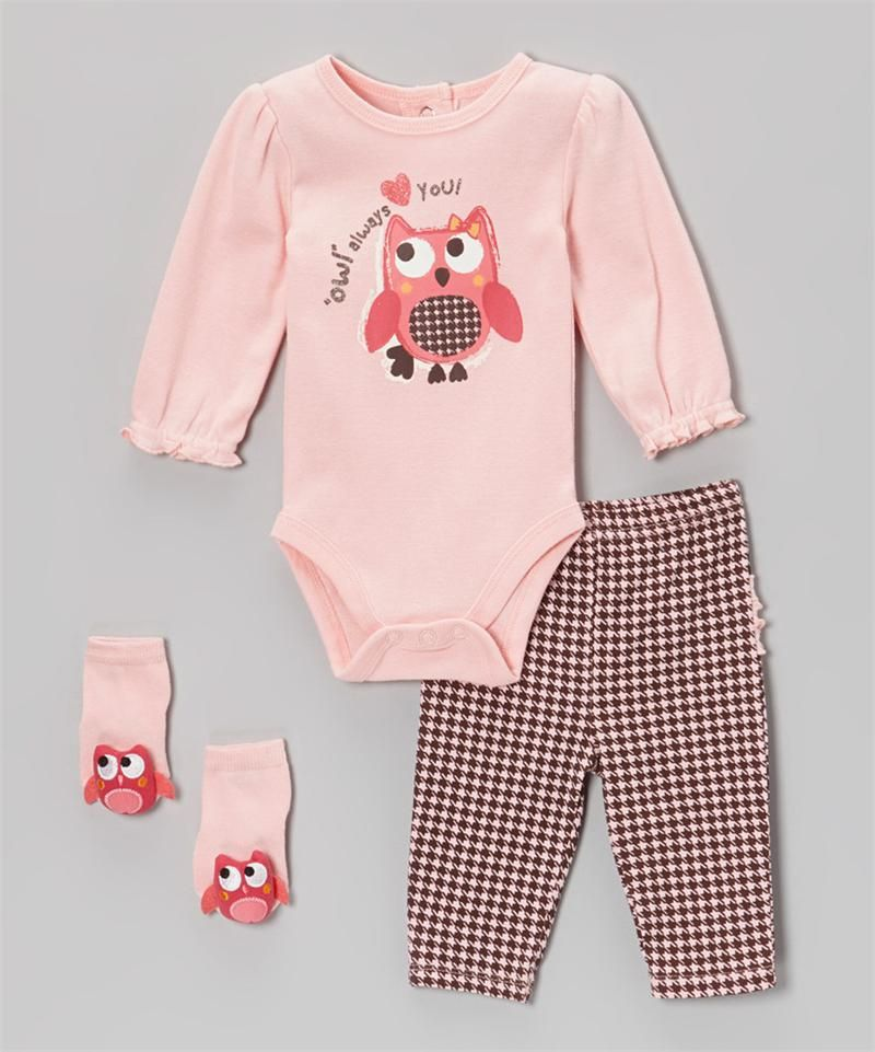 3-Piece Creeper Pant Set Owl Always Love You | Playwear | Vitamins Baby