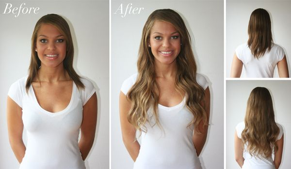 Clip In Hair Extensions Before And After Luxy Hair Hair Extensions Before And After Clip In Hair Extensions Tape In Hair Extensions