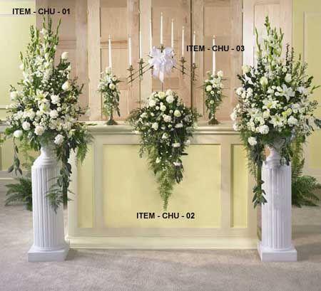 wedding floral arrangements wedding flower arrangements church