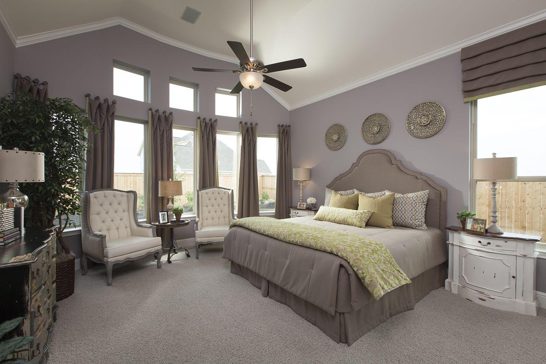 The master bedroom in Bridgeland-Hidden Creek.