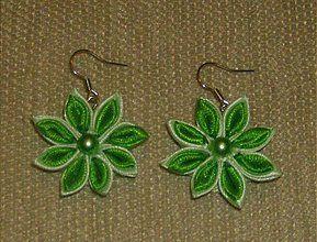 Náušnice - Zelené slniečka - 3529500