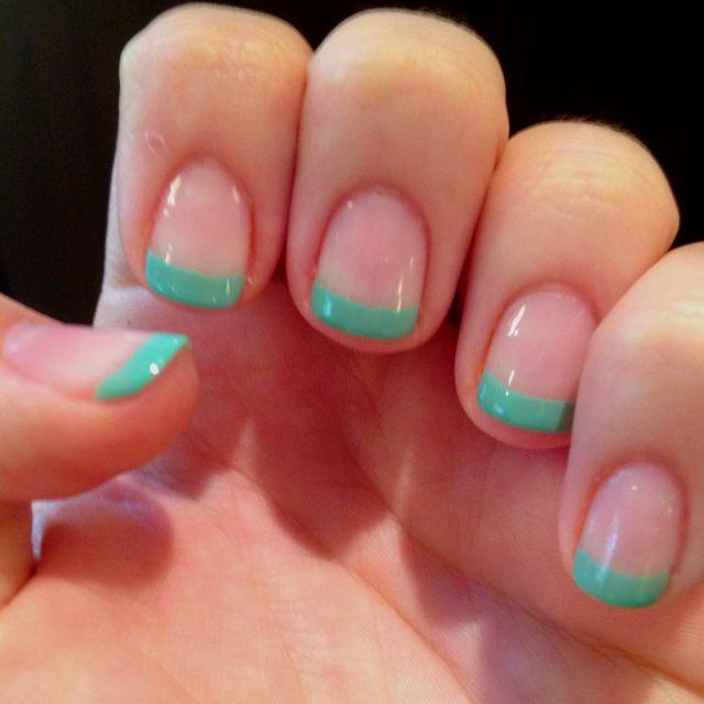Color French tips | Nails | Pinterest | Nail nail, Makeup and Round ...