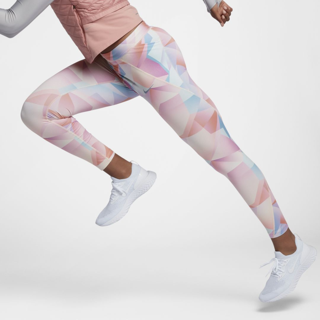 07a153df34883 Nike Speed Women's 7/8 Mid-Rise Running Tights Size M (Guava Ice