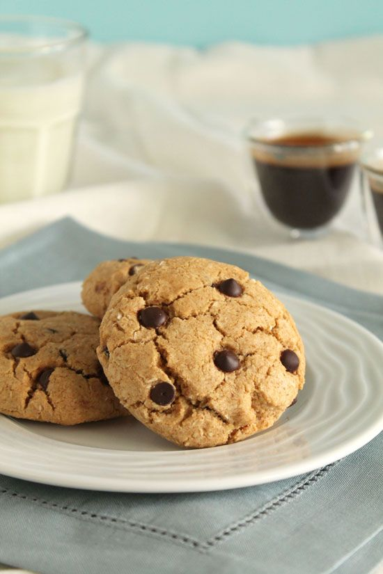 Espresso and coconut chocolate chip cookies