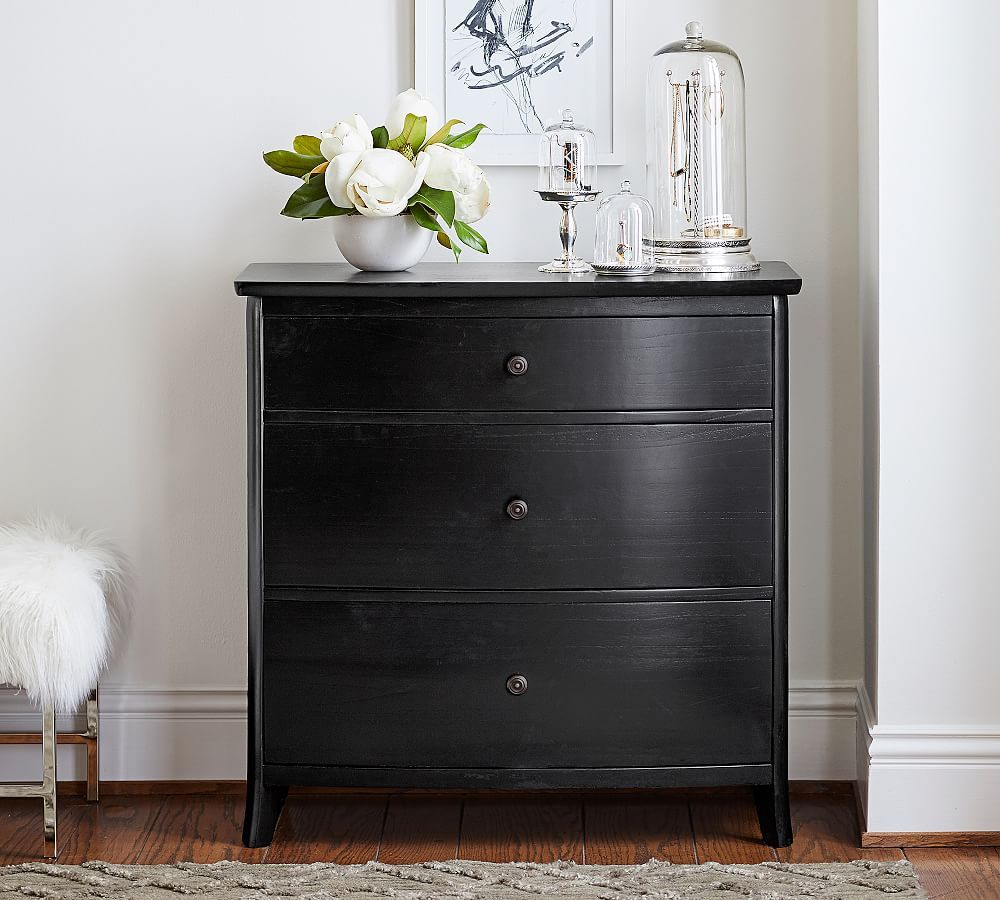 Chloe Wood Dresser, Antique White Chest of Drawers