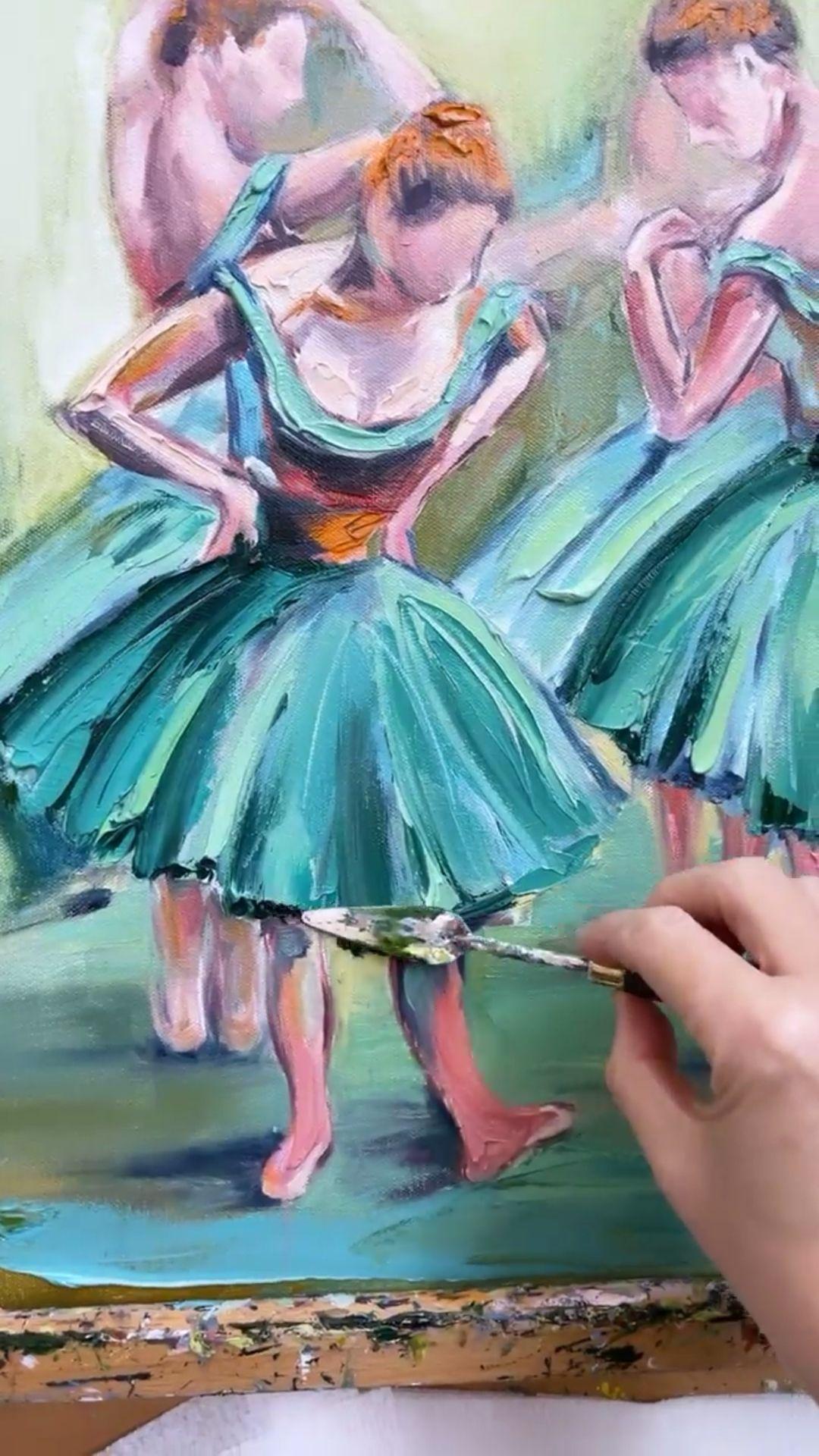 Degas inspired painting