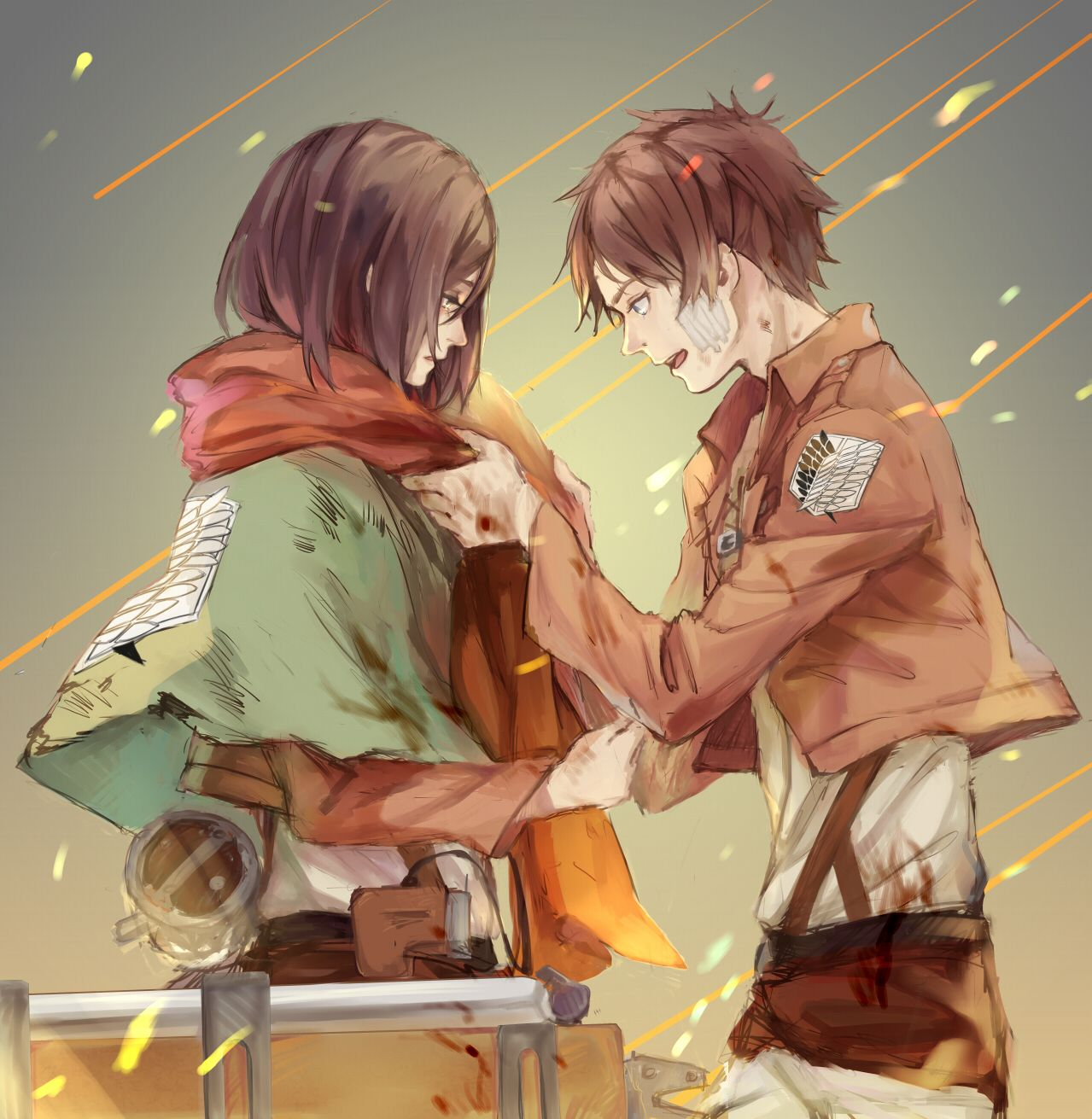 Putting The V Back In Voyeurism Attack On Titan Anime Attack On Titan Eren Eren And Mikasa