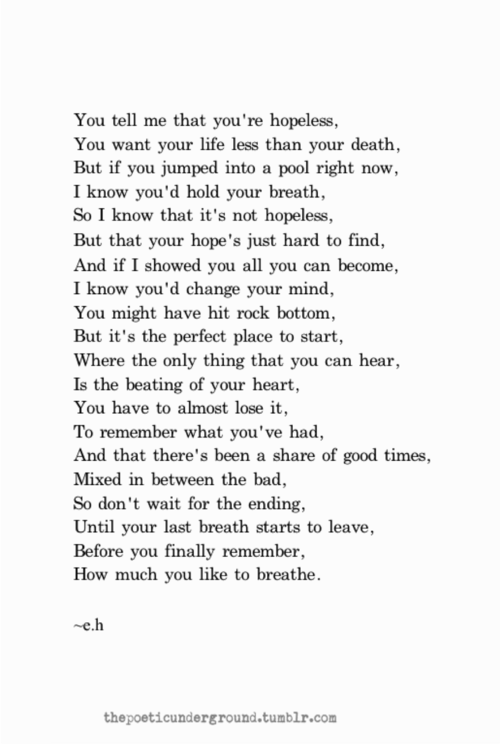 A hit poem