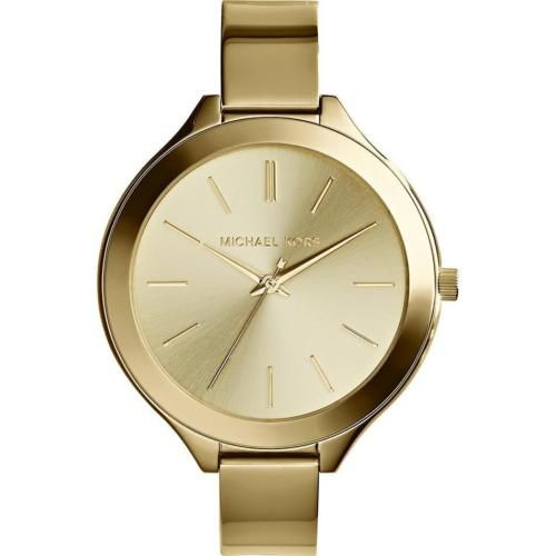 MICHAEL-KORS-MK3275-WOMENS-SLIM-RUNWAY-GOLD-TONE-BRACELET-WATCH-NEW-195