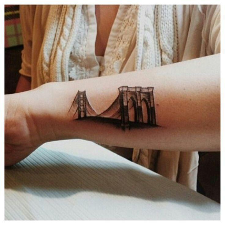 Brooklyn bridge bridge tattoo arm sleeve tattoos