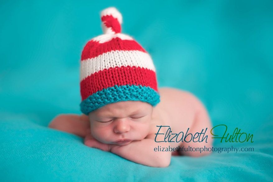 Dr Seuss Photo Prop Hat  Knot Top by BumbleBeeKnees on Etsy, $26.00