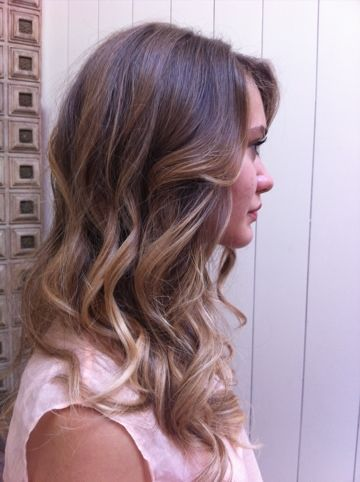 Want this for my hair growing out . light brown with blond ombre - beautiful