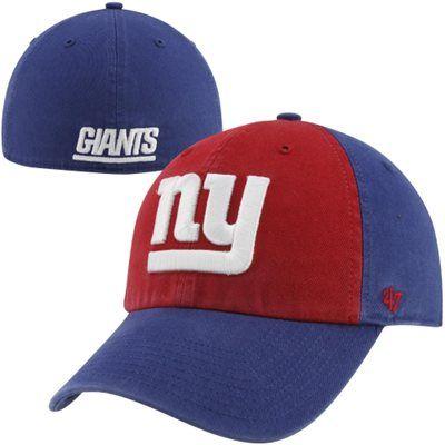 47 Brand New York Giants Franchise Sophomore Fitted Hat Royal Blue Red Fitted Hats New York Giants 47 Brand