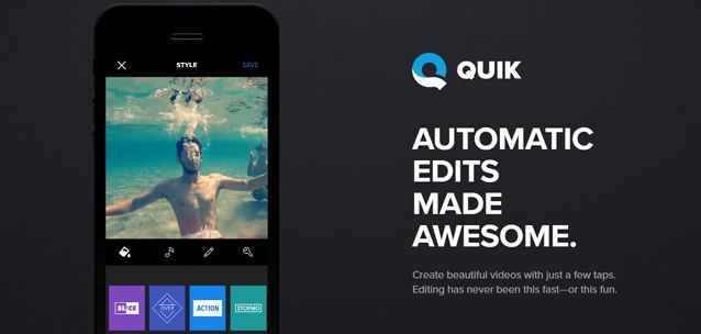 Quik - strepitoso editor video per iPhone e Android!