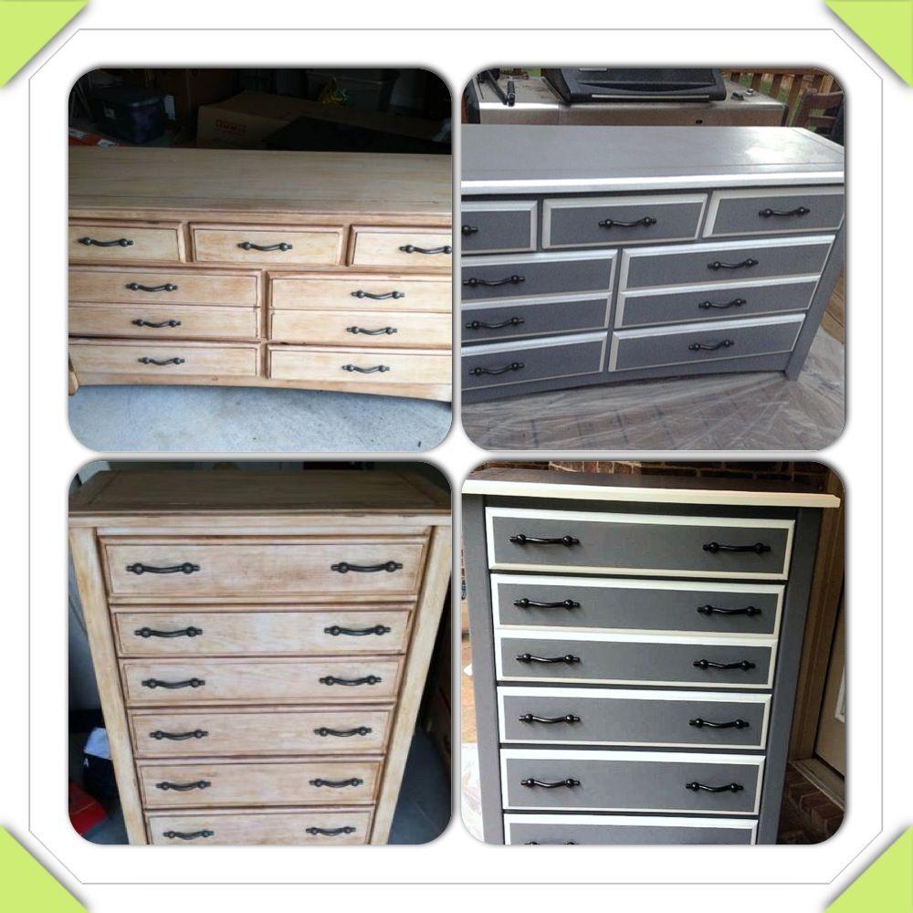Repurposing bedroom furniture into nursery furniture. Grey and ...