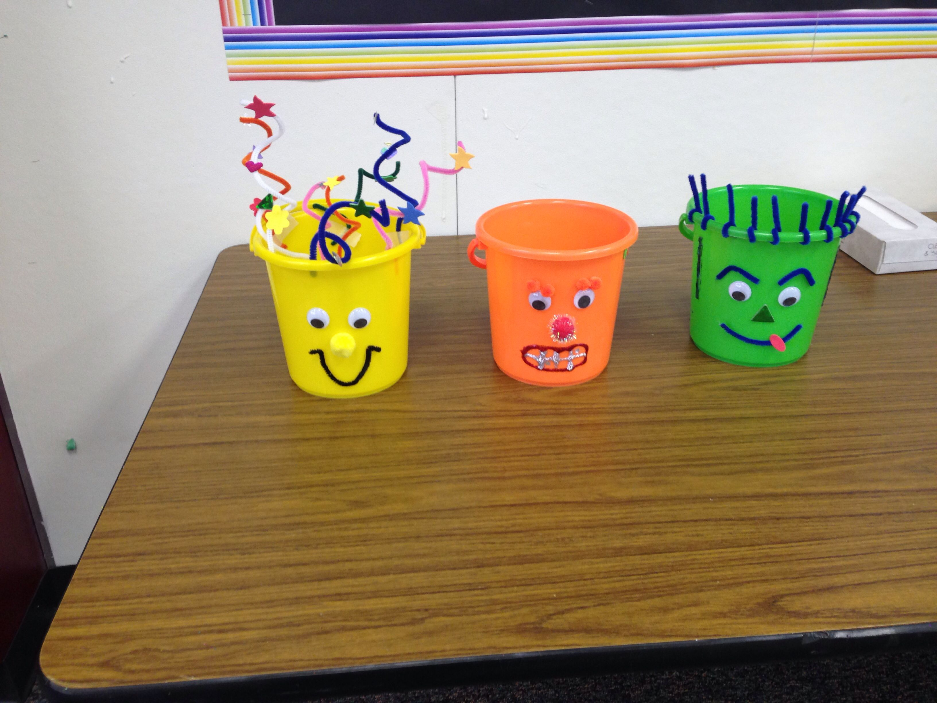 How full is your bucket: Decorate your own bucket and have kids fill others buckets with positive praise (bucket filling examples etc.~Zayra, Linda and Robert