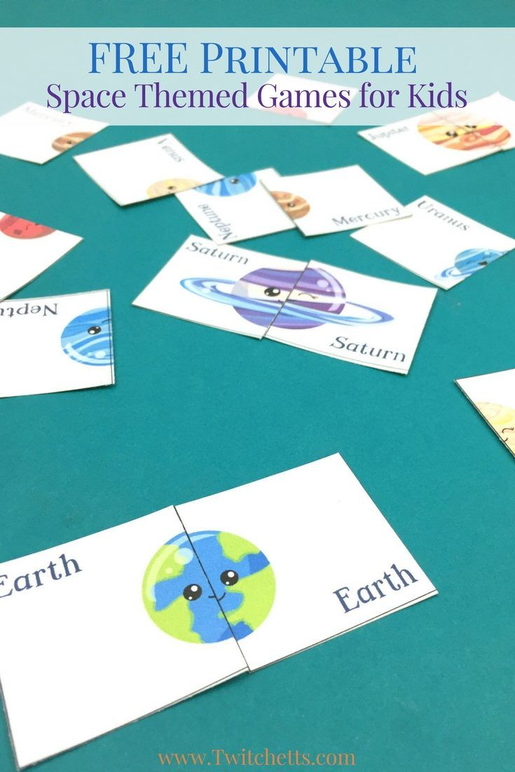 Printable Space Themed Games ~ Solar System For Preschoolers | Solar ...