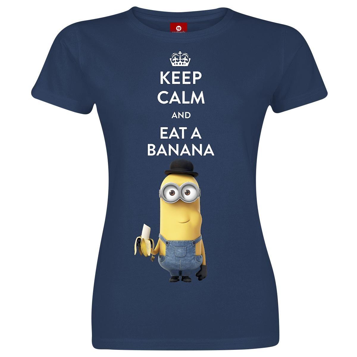 Minions T Shirt »Keep Calm And Eat A Banana« | Jetzt Bei EMP Kaufen | Mehr  Fan Merch T Shirts Online Verfügbar ✓ Unschlagbar Günstig!